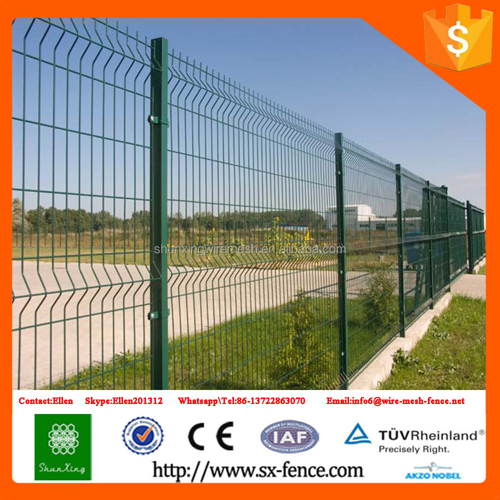 Powder Coated Cyclone Wire Fence Metal Security 3D Fence