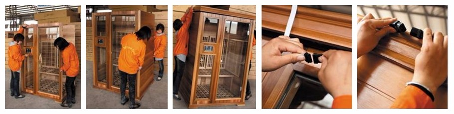 Hot Selling Deluxe Wooden Far Infrared Sauna Room With Carbon Fiber Heater