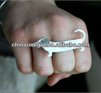 Dachshund Knuckle Ring