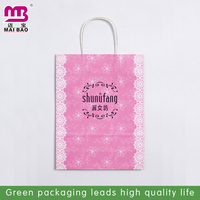Never rub off all over luxury printed shopping paper bags with handles Guangdong factory