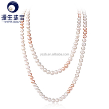 Fashionable white Pearl Long Chain Statement Necklace By Directly From Factory