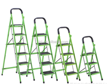A shape steel 4 step ladder with safety rail safety ladder