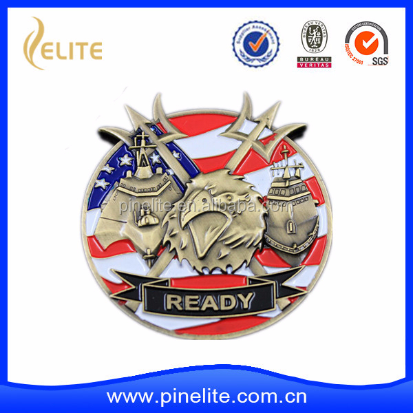 custom factory metal 3D eagle challenge coin in fast shipment