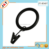 black cheap plastic curtain rings curtain eyelets curtain loop with a small clip