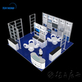 Detian Offer 20ft island aluminum trade show exhibition booth design