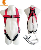 full body harness with energy absorbe lanyard industrial safety belt