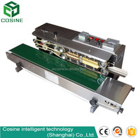 Aluminum foil continuous induction sealing machine automatic bag sealer machine with belt conveyor