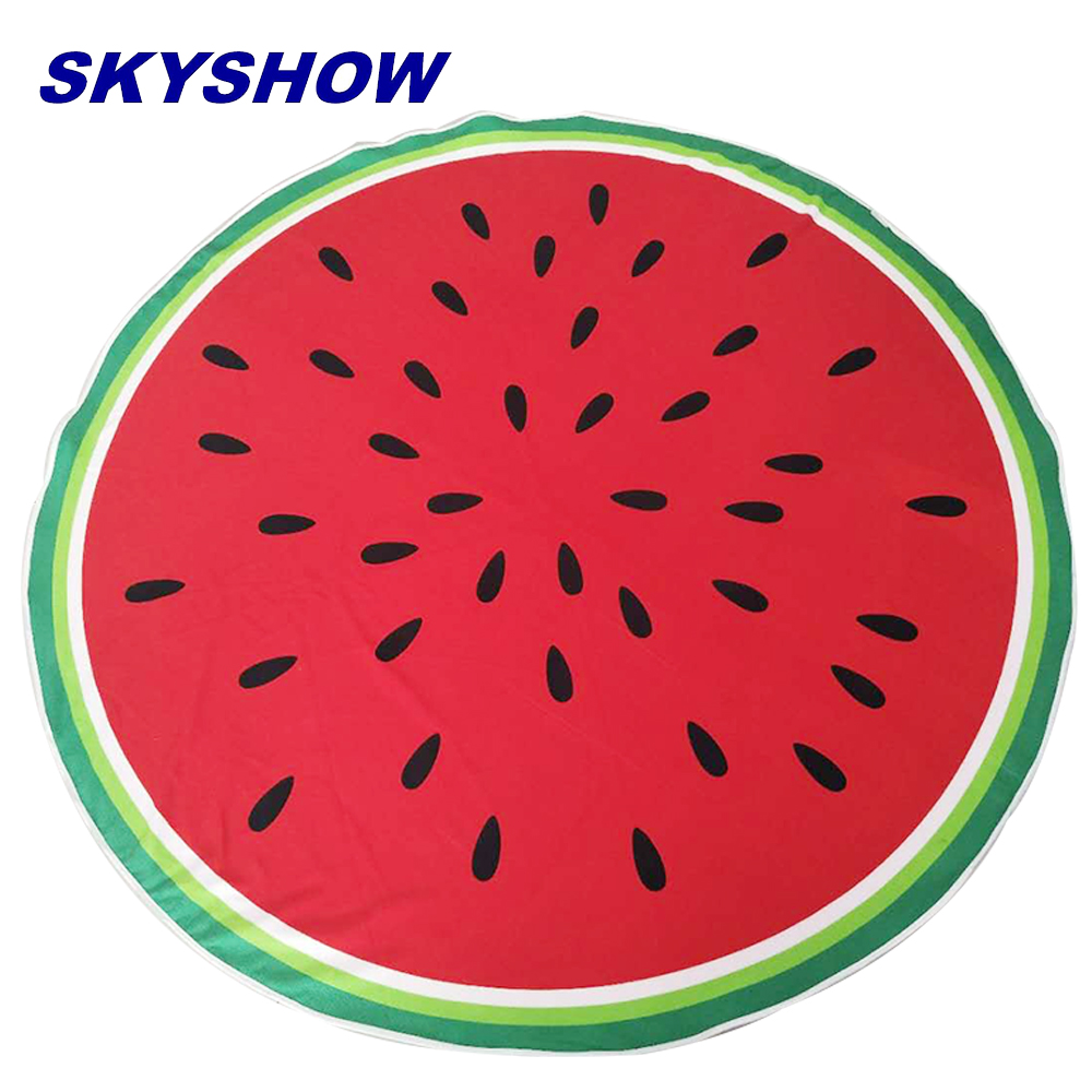 Funny Pattern Color Microfiber Fruit Round Beach <strong>Towels</strong>