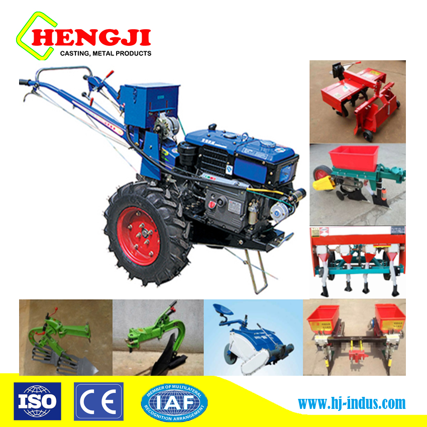 Chinese mini tractor farm machinery 2WD electric start tractors prices agricultural equipment