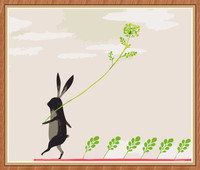 art suppliers rabbit diy painting by numbers for wholesale GX7891