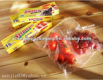 Transparent reclosable plastic ziplock bag