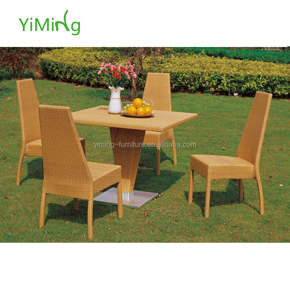 Outdoor Natural PE Rattan Garden dining Furniture set wicker furniture