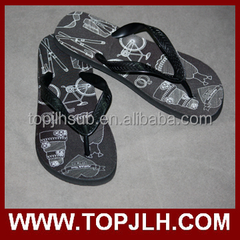 2015 factory wholesale flip flops slippers and sandals for sublimation