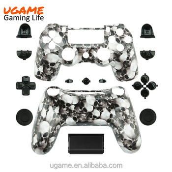 Fashionable design for ps4 housing replacement white black skull