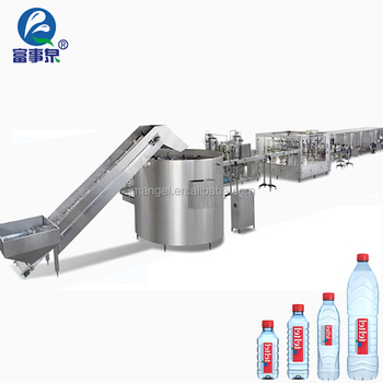 Factory sale automatic plastic bottle complete mineral drink water filling line