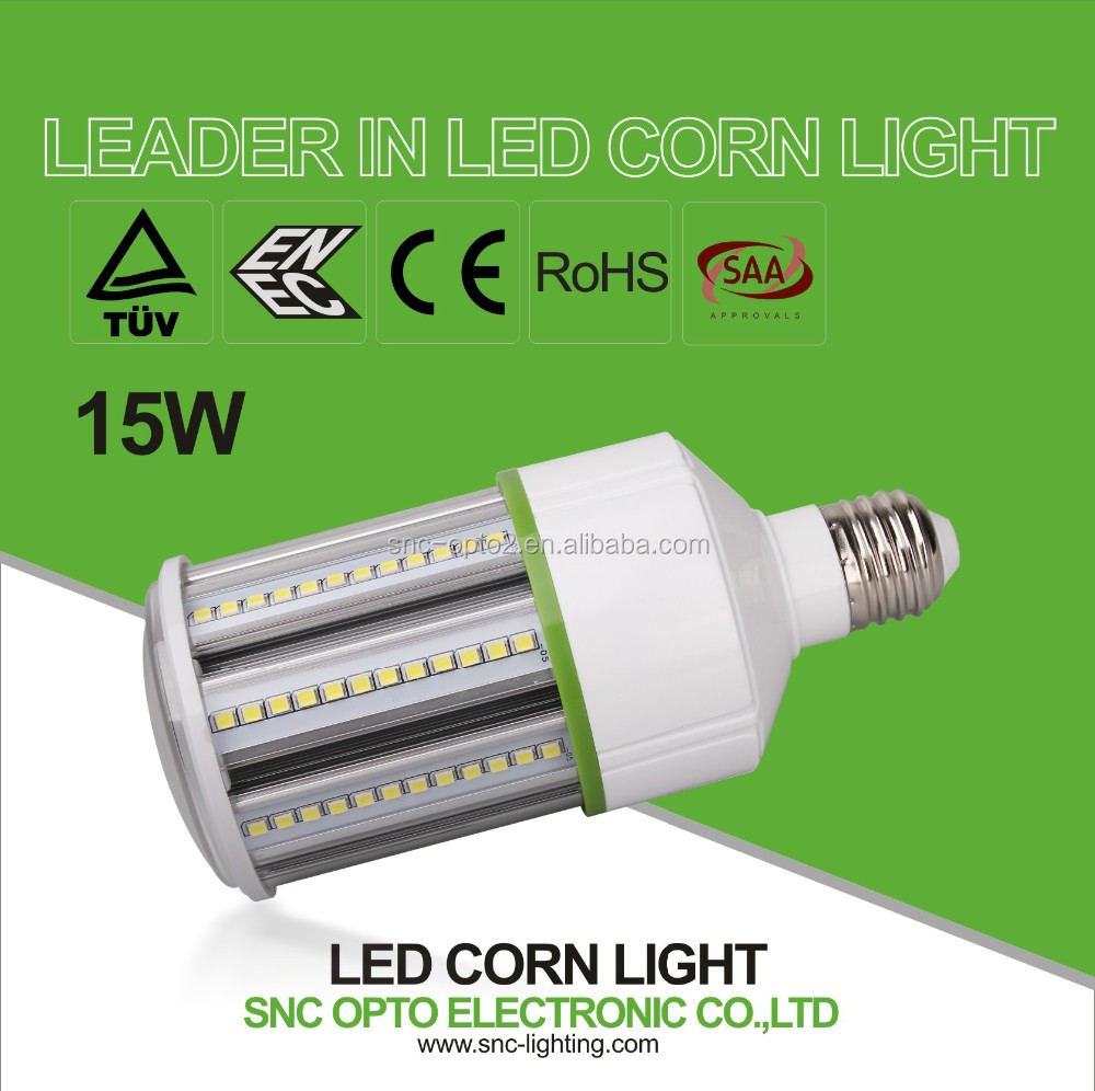 SNC SAA/TUV/ENEC/CE/ROHS LED energy saving bulb LED bulb 360 degree LED corn light 5w