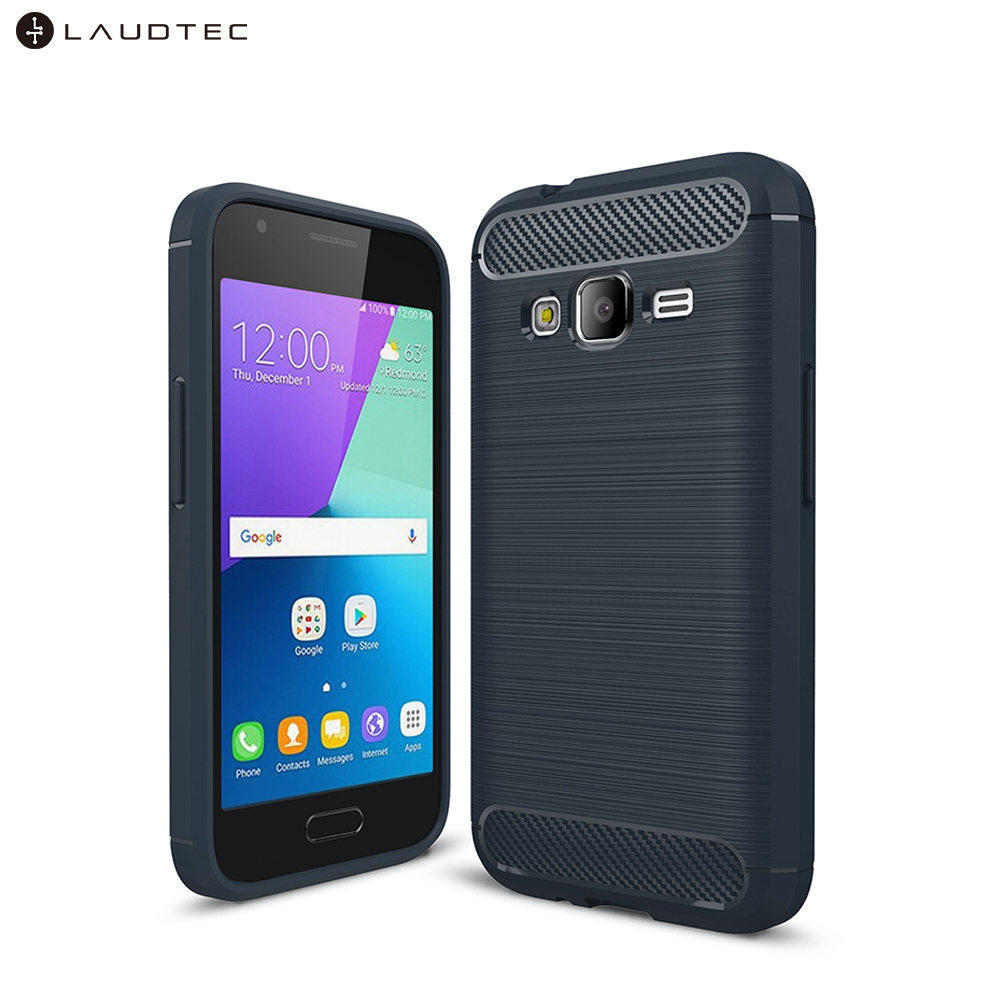 Laudtec Carbon Fiber Silicone Tpu Back Cover Case For Samsung Galaxy <strong>J1</strong> Mini Prime