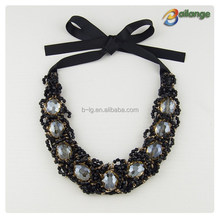 2015 new Fashion Bailange folded lace ribbon beaded collar for women clcoth