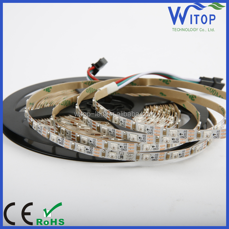 programmable dream color smd3535 ws2812b 60led/m addressable rgb led strip