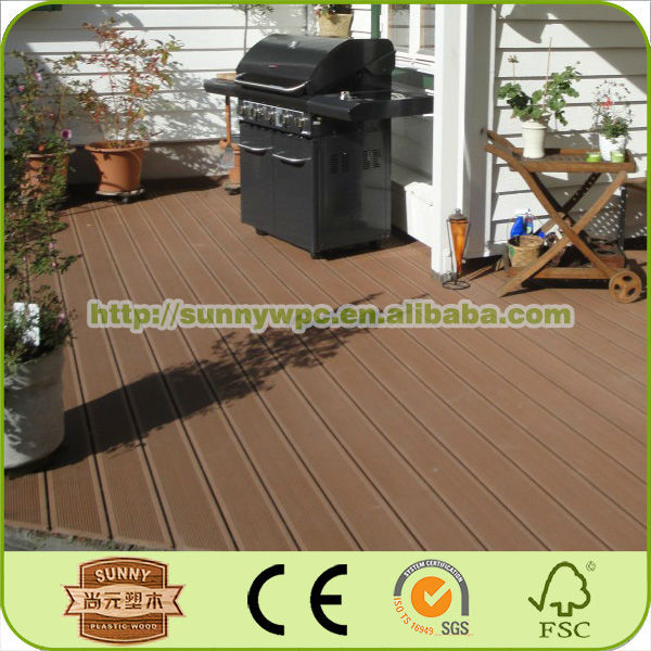 WPC Waterproof Interlocking Composite Decking, Low Maintenance WPC Wall Panel