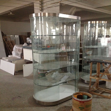 Aluminum frame modern glass display cabinet and showcase for jewelry shop