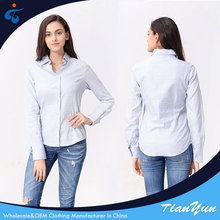 Custom made top quality hot selling formal model ladies uniform blouses