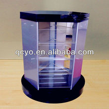 2013 China newest acrylic glass display case with light