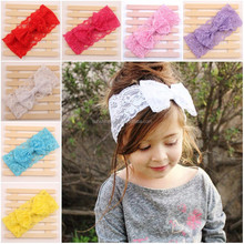 New 2015 Fashion Lace Top Baby Knot <strong>Headband</strong> Wholesale