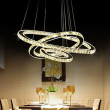 Factory Price 20W led chandelier crystal lighting modern for high ceiling decoration