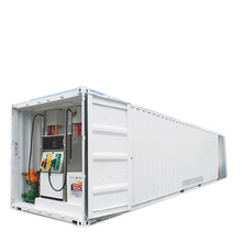 High quality mobile fuel tank container portable gas station exported to Africa