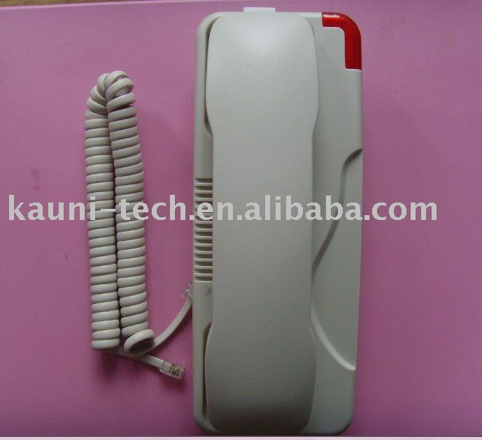 Hotel bathroom telephone, easily mounted to wall---602A