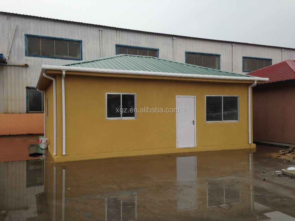 Steel truss and EPS foam cement wall panel prefabricated concrete house