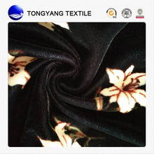 Hot selling kawaii floral printed velvet fabric Promotional