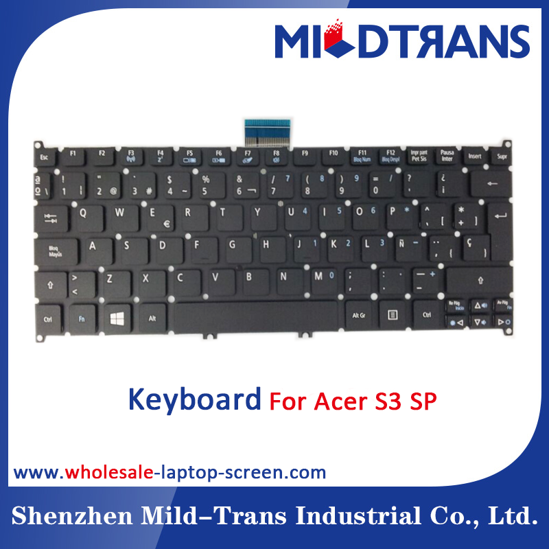 Original factory cheap price laptop keyboard for ACER AO725 S3 SP layout