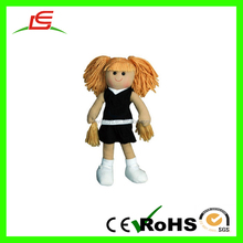 SHENZHEN SUPPLIER PLUSH STUFFED CHEERLEADERS RAG DOLL
