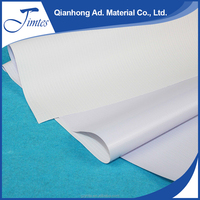 White/Black back pvc flex banner printing roll