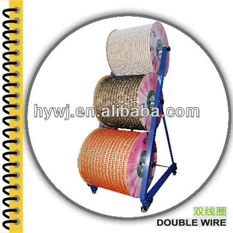 Office and School pitch 3:1 34rings,2:1 23rings Twin Ring Wire suitable for Double Loop Wire Binding For Notebook