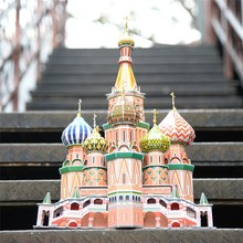 ST. Basil's Cathedral world famous building 3d paper puzzle