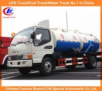 3000L water tank and 3000L sewer cleaning tank 6000L vacuum sewage suction truck