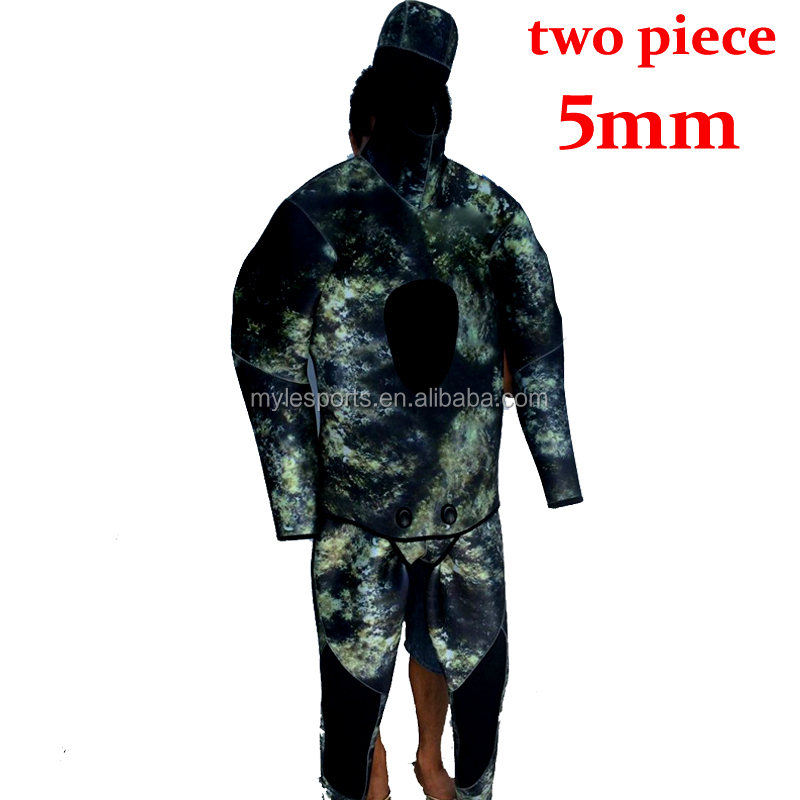 Wholesale 5MM CAMO Neoprene Full Body Spearfishing Diving Suit Wetsuit Diving Suit Surfing suit