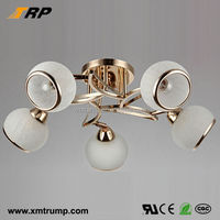 Classic simple decorative indoor modern white glass light fixture of ceiling