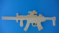 high quality kids toy authentic looking solid wooden gun