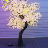 High quality decorative stage decoration outdoor lighted cherry blossom trees