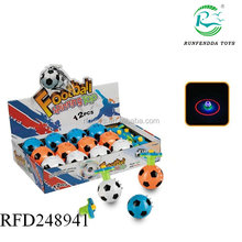 Newest flashing football with music spinning top toy