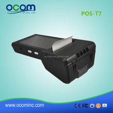 Pos-T7 Mobile android industrial pda smartphone with printer