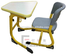 Popular High Quality Single Assemble Study School Plastic Table and Chair for Kids