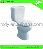 Europe ECO design CE approved cheap two piece p trap 180mm ceramic sanitary ware wc MFZ-08D suitable Europe Africa market