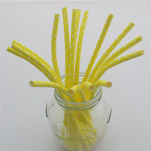 Baby Shower Decorations Polka Dot bending straws creative paper curly straws