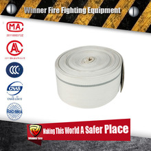 50mm 8bar Polyester Fireman Jacket White PVC Lining Flexible Fire Hose and Layflat Hose