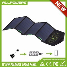 22%~25% Solar Power Transformation 18W Solar Charger Portable Outdoor Solar Panel Pack for Mobile Phone Camera GPS Flashlight.